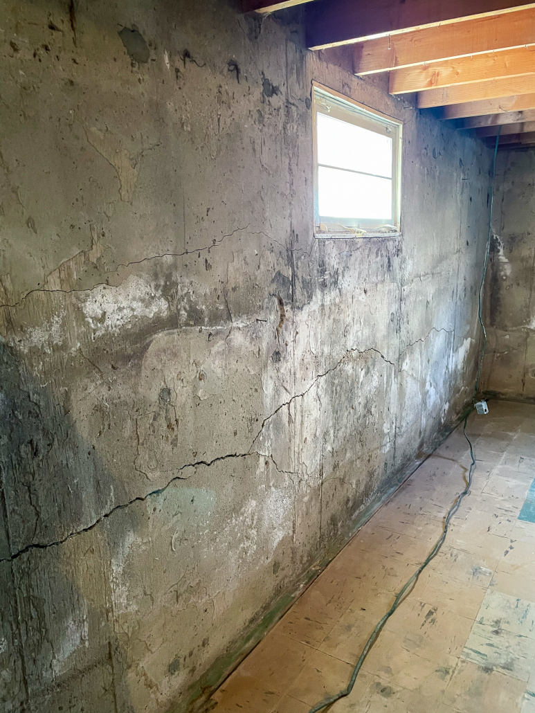 foundation repair in regina-basement bracing needed